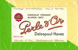 Etiquette De Chocolat  : Chocolat PERLE D'OR Delespaul Havez - Labels