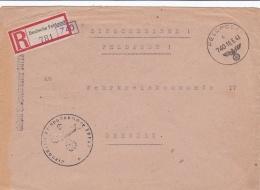 Registered Feldpost WW2: To Wehrbezirkskommando IV In Dresden From Feld-Kommandantur 194 V FP 30728 P/m Feldpost 740 16. - 2. Weltkrieg