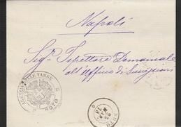 Noto. 1878. Annullo Doppio Cerchio + Annullo AGENZIA DELLE TASSE + Testo,  Su Lettera In Franchigia - 1861-78 Victor Emmanuel II