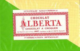Etiquette De Chocolat  : Chocolat ALBERTA  Fabrication Speciale - Labels