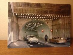 Cartolina Tunnel Monte Bianco Chamoniz Courmayeur Viaggiata 1966 Auto Citroen Ds 21 Cars - Unclassified