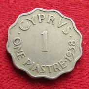 Cyprus 1 Piastre 1938 Chipre Chypre Cipro Zypern - Cyprus