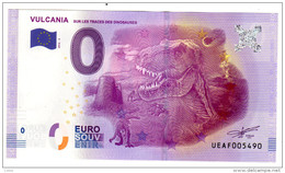2016-2 BILLET TOURISTIQUE 0 EURO SOUVENIR N°UEAF009001 VULCANIA - EURO