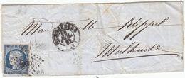 L.S.C. Cérés N°4 Losange PC 2950 - Strasbourg Pour Mulhouse 16 Juil.1852 - Recto/verso - 1849-1876: Classic Period