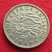Cyprus 1 Shilling 1947 KM# 27 Lt 723 Chipre - Chypre
