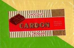 Etiquette Emballage Chocolat  CARDON  A CROQUER - Labels