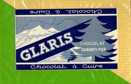 Etiquette Emballage Chocolat  GLARIS  Chocolat A Cuire - Labels