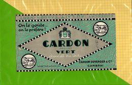 Etiquette Emballage Chocolat  CARDON  Paquet Vert  CAMBRAI - Labels