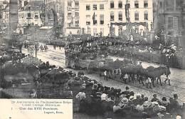 75e Anniversaire De L'Indépendance Belge.  Grand Cortège Historique.  N° 01.  Char Des XVII Provinces. - Feesten En Evenementen