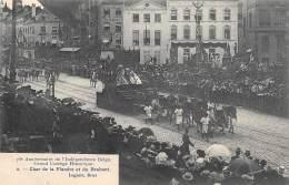 75e Anniversaire De L'Indépendance Belge.  Grand Cortège Historique.  N° 02.  Char De La Flandre Et Du Brabant - Feesten En Evenementen