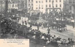 75e Anniversaire De L'Indépendance Belge.  Grand Cortège Historique.  N° 07.  Char Des Chemins De Fer - Feesten En Evenementen