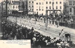 75e Anniversaire De L'Indépendance Belge.  Grand Cortège Historique.  N° 08.  Expansion Coloniale, Groupe D'explorateurs - Feesten En Evenementen