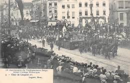 75e Anniversaire De L'Indépendance Belge.  Grand Cortège Historique.  N° 09.  Char De Léopold Ier. - Feesten En Evenementen