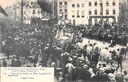 75e Anniversaire De L'Indépendance Belge.  Grand Cortège Historique.  N° 12.  Char De La Patrie En Fête Leopold II. - Feesten En Evenementen