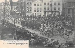75e Anniversaire De L'Indépendance Belge.  Grand Cortège Historique.  N° 17.  Trompettes Et Musiciens à Cheval. - Feesten En Evenementen