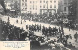 75e Anniversaire De L'Indépendance Belge.  Grand Cortège Historique.  N° 22.  Expansion Coloniale Tambours Et Musiciens - Feesten En Evenementen