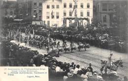 75e Anniversaire De L'Indépendance Belge.  Grand Cortège Historique.  N° 24.  Période Autrichienne.  Tambours Et Filtres - Feesten En Evenementen
