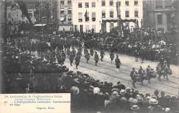75e Anniversaire De L'Indépendance Belge.  Grand Cortège Historique.  N° 30.  L'Indépendance Nationale.  Combattants - Fêtes, événements
