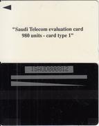SAUDI ARABIA(GPT) - Saudi Telecom Evaluation Card 980 Units, CN : 1SAUD, Used - Saudi Arabia