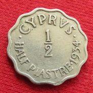 Cyprus 1/2 Piastre 1934 KM# 20 Lt 725 Chipre Chypre Cipro Zypern - Cyprus