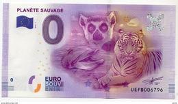 2016-1 BILLET TOURISTIQUE 0 EURO SOUVENIR N°UEFB006794 PLANETE SAUVAGE - EURO