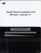 SAUDI ARABIA(GPT) - Saudi Telecom Evaluation Card 480 Units, CN : 1SAUB, Used - Saudi Arabia