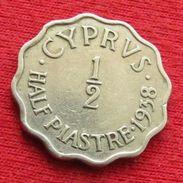 Cyprus 1/2 Piastre 1938 KM# 22  Lt 728 Chipre Chypre Cipro Zypern - Cyprus