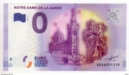 2016-3 BILLET TOURISTIQUE 0 EURO SOUVENIR N°UEAA008180 NOTRE DAME DE LA GARDE - EURO