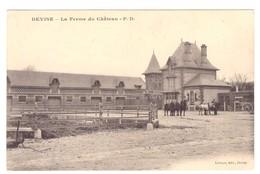 Cpa 80 Devise La Ferme Du Château - France