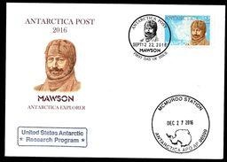 Antarctica Post - Mawson FDC - New Zealand