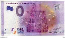 2016-1 BILLET TOURISTIQUE 0 EURO SOUVENIR N°UEFT001586 CATHEDRALE DE STRASBOURG - EURO