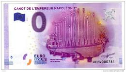 2016-1 BILLET TOURISTIQUE 0 EURO SOUVENIR N°UEFW000764 CANOT DE L'EMPEREUR NAPOLEON 1er N° Inférieur à 1000 - EURO