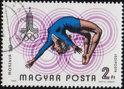 HUNGARY - Scott #C421 Moscow '80 Olympic Games, Gymnast / Used Stamp - Summer 1980: Moscow