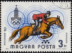 HUNGARY - Scott #C422 Moscow '80 Olympic Games, Equestrian (*) / Used Stamp - Summer 1980: Moscow