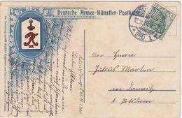 GERMANY 1910 (27.11.) MILIT.ART P.C. USED KÖNIGSBERG/Pr. - Autres