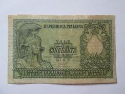 Italy 50 Lire 1951 Banknote - [ 2] 1946-… : Républic