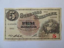 Sweden 5 Kronor 1952 Banknote - Suède