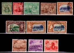Trinidad And Tobago,1922-1960, Miscellaneous Singles, Britannia, QEII Et Al, Used, Some Hinged - Trinidad & Tobago (1962-...)