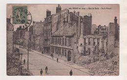 MILITARIA 1919 - REIMS RUE  DE VESLE ( PUBLICITE BRASSERIE DES VARIETES ET SPLENDID ) CACHET REIMS 1919 - VOIR LE SCANNE - 1914-18
