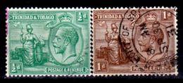 Trinidad And Tobago,,1922-1928, King George V, #21, 22.  Used, NH - Trinidad & Tobago (1962-...)