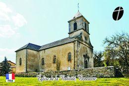 Carte Postale, Eglises, Churches Of France (Côte-d'Or), Beneuvre, Église De La Nativité - Eglises Et Cathédrales