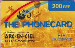 Télécarte Belgique °° 200 BEF - Arc-en-ciel 1999 - RV 1876   ***   LUXE - [2] Prepaid & Refill Cards