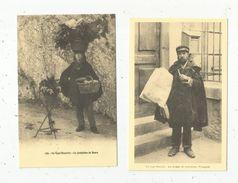 Cp, REPRODUCTION , Métier ,folklore , Type Bisontin, La Joséhine De Beure,le Crieur De Journaux François, LOT 2 CP - Marchands Ambulants