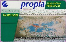 Télécarte Cuba °° Propia 10.00$Usd - Musée - Carton Plastifié - R 2414 - Cuba
