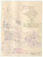 WW1 MENU DE POILUS DU 1er NOVEMBRE 1915 PAS DE CALAIS 62 REGION PETIT HOUVIN - HAUTECLOQUE   2 SCANS - Menu