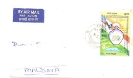 1999. India, The Letter Sent By Air-mail Post To Moldova - India