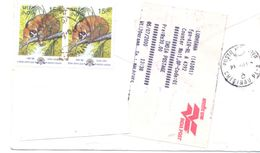 2000 India, The Letter Sent By Registered Air-mail Post To Moldova - India