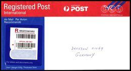 Australien / Australia: Ganzsache / Postal Stationery 'Registered Airmail, 2000-2017' - 2010-... Elizabeth II