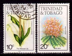 Trinidad And Tobago,,1983, #393e, 395, Flowers, Used, NH - Trinidad & Tobago (1962-...)