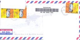 1999.Singapure, The Letter Sent By Registered Air-mail Post To Moldova - Singapore (1959-...)